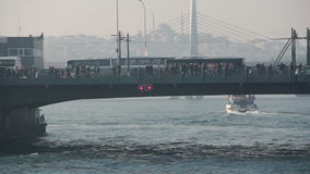 Istanbul /galata bridge/travel/people/december 2015. Istanbul /People/december 2015 / istanbul HD 1080 stock video