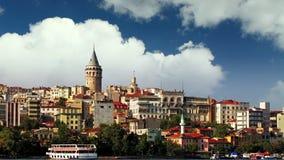 Istanbul - Galata district, Turkey - Time lapse stock footage