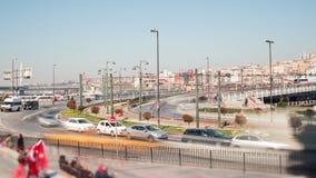Istanbul. Galata gridge time lapse scene stock footage