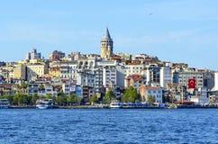 Istanbul Galata torn och Cityscape Royaltyfri Fotografi