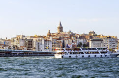 Istanbul Galata torn och Cityscape Royaltyfria Bilder