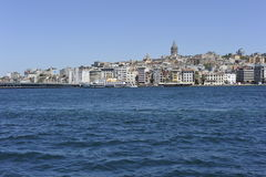 Istanbul, Galata Tower,  Bosporus Shoreline Royalty Free Stock Photos