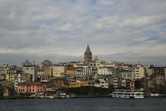 Galata Tower, Istanbul stock images