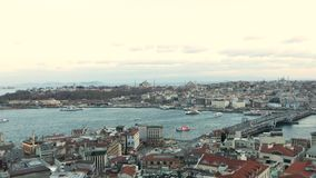 Istanbul from the Galata Tower, Golden Horn overall time half lapa
