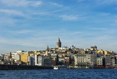Istanbul. Galata Tower, Karakoy district. Istanbul. Galata Tower medieval landmark in Istanbul, Karakoy district historic architecture Royalty Free Stock Photography