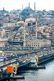 Istanbul from Galata tower, Turkey. Stock Image