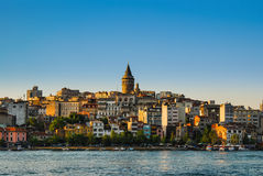 Istanbul. Galata Tower, Turkey Royalty Free Stock Photography