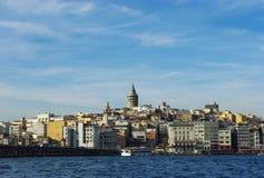 Istanbul Galata-Turm, Karakoy-Bezirk Lizenzfreie Stockfotografie