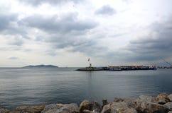 Istanbul gardener coast, lighthouse views Stock Photo