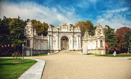 Istanbul, Gate of Dolmabahce palace Stock Photo