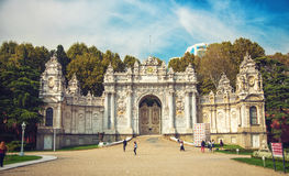Istanbul, Gate of Dolmabahce palace Royalty Free Stock Images