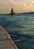 Istanbul girl tower Stock Photos