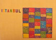 Istanbul-Grafik auf Wand Stockfotografie