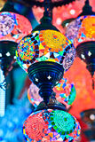 Istanbul Grand Bazaar - Mosaic turkish lanterns Royalty Free Stock Image