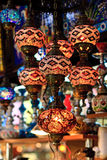 Istanbul Grand Bazaar - Mosaic turkish lanterns Stock Photography