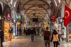Istanbul Grand Bazaar. People visiting Istanbul Grand Bazaar, Turkey royalty free stock photo