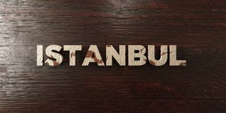 Istanbul - grungy wooden headline on Maple - 3D rendered royalty free stock image. This image can be used for an online website banner ad or a print postcard royalty free illustration