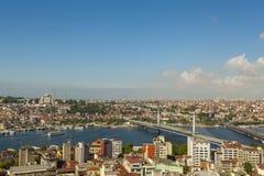 Istanbul guld- horn Royaltyfria Bilder