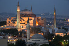 Istanbul - Hagia Sophia enlightened by night Royalty Free Stock Images