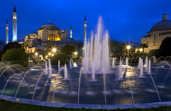 Istanbul - Hagia Sophia Mosque. The Hagia Sophia Mosque in the Sultanahmet area of Istanbul in Turkey Stock Photo