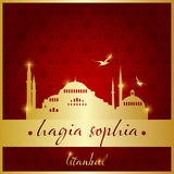 Istanbul hagia sophia mosque logo, icon and symbol vector illustration Royalty Free Stock Images