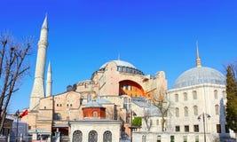 Istanbul Hagia Sophia Museum. Hagia Sophia Museum, Istanbul. Large blue sky as a copy space Stock Image