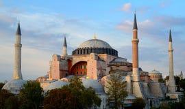 Istanbul. Hagia Sophia at sunset Royalty Free Stock Photo