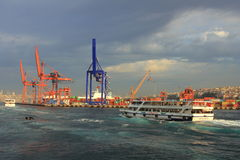 Istanbul Haydarpasa Seaport Stock Image