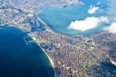 Istanbul from the heigh of bird flight Royalty Free Stock Images