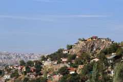 Istanbul. From a hill in the rural fringe royalty free stock image