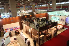 Istanbul Home Textiles Exhibition Royalty Free Stock Image
