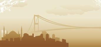 Istanbul horisont Royaltyfri Illustrationer