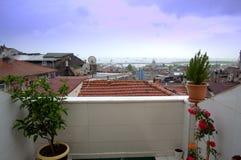 Istanbul hotel terrace Stock Photos