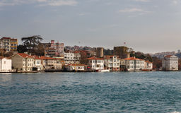 Istanbul houses near river Stock Image