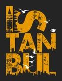 Istanbul-Illustration, T-Shirt Grafik stock abbildung
