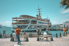 Istanbul im Blau stockfotografie