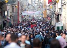 Istanbul, Isteklal Straße Lizenzfreie Stockfotos