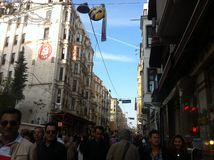 Istanbul Istiklal April 2014 Royalty Free Stock Photo