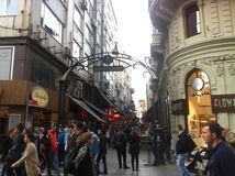 Istanbul Istiklal April 2014 Stock Images