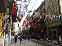 Istanbul Istiklal en avril 2014 Photo stock
