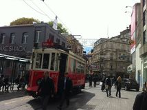 Istanbul Istiklal en avril 2014 Photo libre de droits