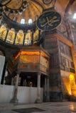 ISTANBUL - 10 JULI 2015: inom basilikan av Hagia Sophia Royaltyfria Bilder