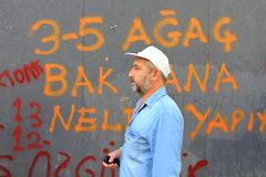 ISTANBUL - JUNE 1, 2013. Violence sparked by plans to build on the Gezi Park have broadened into nationwide anti government unrest on June 1, 2013 in Istanbul Stock Images