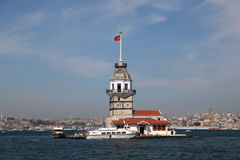 istanbul jungfru- s torn Royaltyfria Bilder