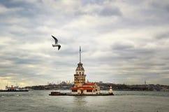 istanbul jungfru- s torn Royaltyfri Fotografi