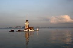 istanbul jungfru- s tornkalkon Fotografering för Bildbyråer