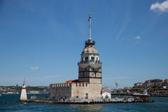istanbul jungfru- s tornkalkon Arkivbilder