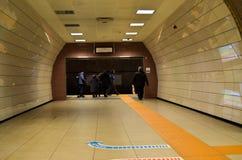 Istanbul Kadikoy Kartal metro line, people royalty free stock images