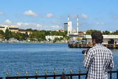 Istanbul, Kadikoy pier is getting attention of photographers. Pr. Istanbul, Turkey - September 9, 2012: Istanbul, Kadikoy pier is getting attention of Stock Images