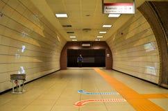 Istanbul Kadikoy Tavsantepe metro line, people royalty free stock image